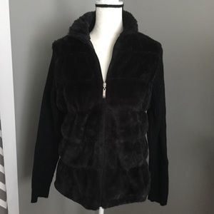 Effeci Faux Fur Sweater Jacket